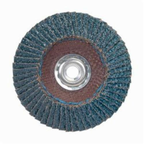 Merit® PowerFlex® 08834193693 Contoured Standard Density Coated Abrasive Flap Disc, 7 in Dia, 120 Grit, Fine Grade, Zirconia Alumina Abrasive, Type 29/Conical Disc