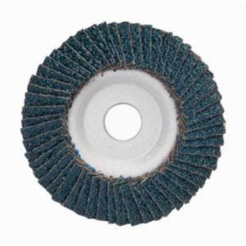 Merit® PowerFlex® 08834193719 Center Mount Contoured Standard Density Coated Abrasive Flap Disc, 4-1/2 in Dia, 7/8 in Center Hole, P24 Grit, Extra Coarse Grade, Zirconia Alumina Abrasive, Type 29/Conical Disc