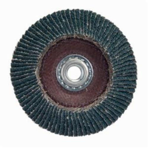 Norton® Merit® PowerFlex® 08834193906 Arbor Thread High Density Coated Abrasive Flap Disc, 4-1/2 in Dia, P40 Grit, Extra Coarse Grade, Zirconia Alumina Abrasive, Type 29/Conical Disc