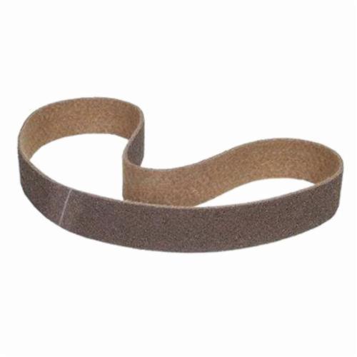 Norton® Rapid Prep™ 66261002571 Surface Conditioning Non-Woven Abrasive Belt, 2 in W x 72 in L, Coarse Grade, Aluminum Oxide Abrasive, Brown