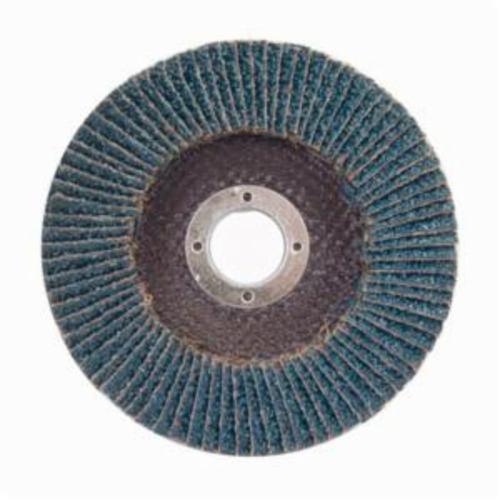 Merit® PowerFlex® 08834194362 High Density Coated Abrasive Flap Disc, 7 in Dia, 7/8 in Center Hole, 80 Grit, Medium Grade, Zirconia Alumina Abrasive, Type 27/Flat Disc