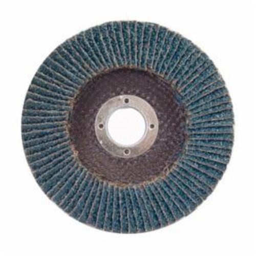Merit® PowerFlex® 08834194514 High Density Coated Abrasive Flap Disc, 7 in Dia, 7/8 in Center Hole, 60 Grit, Coarse Grade, Zirconia Alumina Abrasive, Type 27/Flat Disc