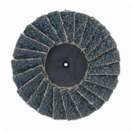 Merit® PowerFlex® 08834195037 Mini Standard Density Type II Coated Abrasive Flap Disc, 3 in Dia, 60 Grit, Coarse Grade, Zirconia Alumina Abrasive, Type 27/Flat Disc