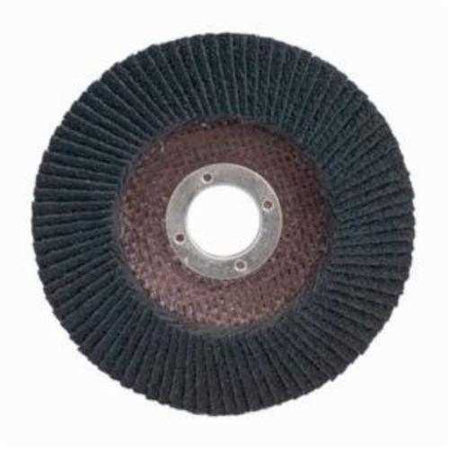 Merit® PowerFlex® 08834195676 Standard Density Coated Abrasive Flap Disc, 4-1/2 in Dia, 7/8 in Center Hole, 80 Grit, Medium Grade, Silicon Carbide Abrasive, Type 29/Conical Disc