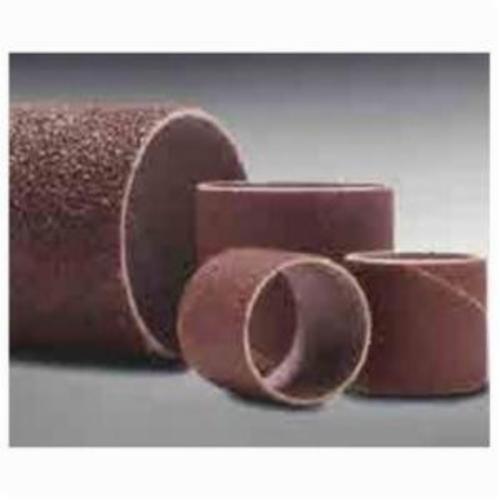 Merit® 08834196165 Coated Spiral Band, 1-1/2 in Dia x 1-1/2 in L, 80 Grit, Coarse Grade, Aluminum Oxide Abrasive