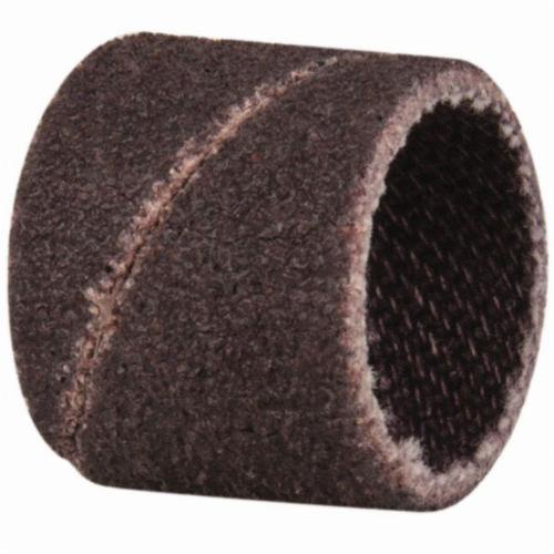 Merit® 08834196179 Coated Spiral Band, 1/2 in Dia x 1/2 in L, 80 Grit, Coarse Grade, Aluminum Oxide Abrasive