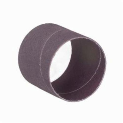 Merit® 08834196222 Coated Spiral Band, 1-1/2 in Dia x 1 in L, 36 Grit, Extra Coarse Grade, Aluminum Oxide Abrasive