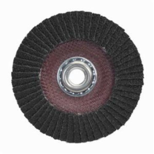 Merit® PowerFlex® 08834196275 Standard Density Coated Abrasive Flap Disc, 4-1/2 in Dia, 120 Grit, Fine Grade, Silicon Carbide Abrasive, Type 29/Conical Disc