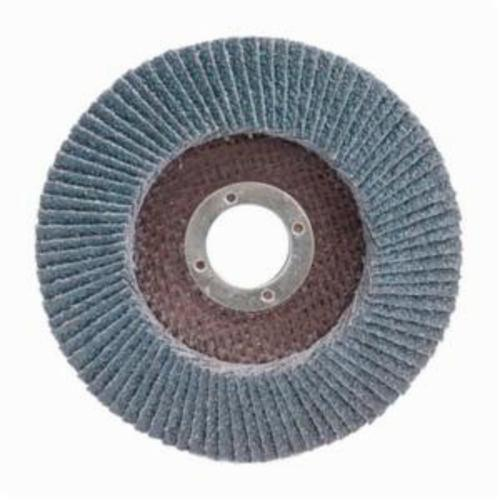 Merit® PowerFlex® 08834197187 Standard Density Coated Abrasive Flap Disc, 7 in Dia, 120 Grit, Fine Grade, Silicon Carbide Abrasive, Type 29/Conical Disc