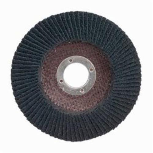 Merit® PowerFlex® 66254460463 Standard Density Coated Abrasive Flap Disc, 5 in Dia, 7/8 in Center Hole, 80 Grit, Medium Grade, Silicon Carbide Abrasive, Type 29/Conical Disc