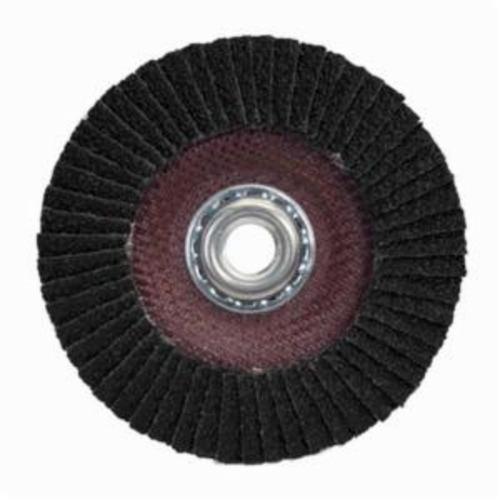 Merit® PowerFlex® 66254460664 Standard Density Coated Abrasive Flap Disc, 4-1/2 in Dia, 60 Grit, Coarse Grade, Silicon Carbide Abrasive, Type 29/Conical Disc