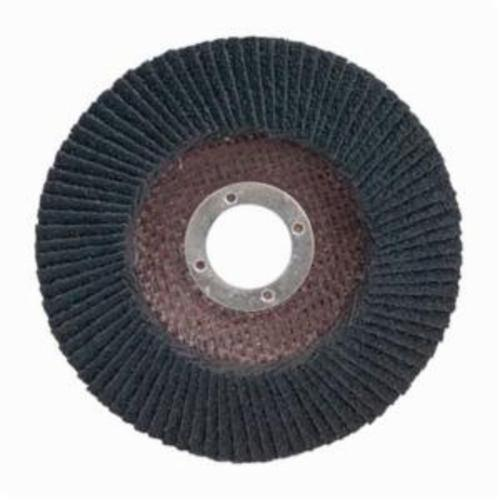 Merit® PowerFlex® 66254460665 Standard Density Coated Abrasive Flap Disc, 7 in Dia, 7/8 in Center Hole, 60 Grit, Coarse Grade, Silicon Carbide Abrasive, Type 29/Conical Disc