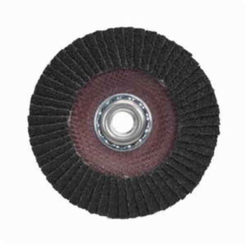 Merit® PowerFlex® 66254460666 Standard Density Coated Abrasive Flap Disc, 7 in Dia, 60 Grit, Coarse Grade, Silicon Carbide Abrasive, Type 29/Conical Disc