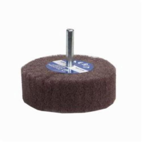 Norton® Merit® Bear-Tex® 66261026075 Spindle Mounted Non-Woven Flap Wheel, 3 in Dia Wheel, 1-3/4 in W Face, 1/4 in Dia Shank, Medium Grade, Aluminum Oxide Abrasive