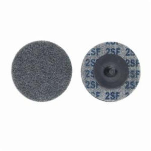 Merit® Bear-Tex® 66261054182 Button Mount Non-Woven Unitized Wheel, 2 in Dia, 1/4 in W Face, Fine Grade, Silicon Carbide Abrasive