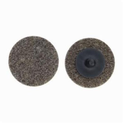 Norton® Merit® Bear-Tex® 66261054196 Button Mount Non-Woven Unitized Wheel, 3 in Dia, 1/4 in W Face, Medium Grade, Aluminum Oxide Abrasive
