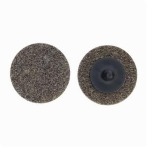 Norton® Merit® Bear-Tex® 66261054197 Button Mount Non-Woven Unitized Wheel, 3 in Dia, 1/4 in W Face, Medium Grade, Aluminum Oxide Abrasive