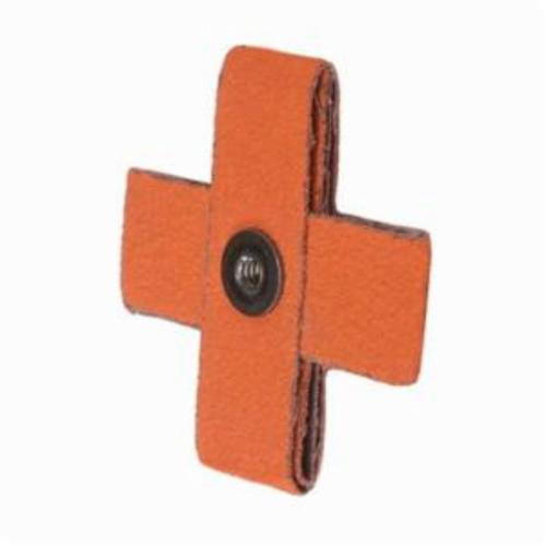 Merit® Blaze® 66261194496 Supersized Coated Cross Pad, 1-1/2 in L x 1-1/2 in W x 1/2 in THK, #8-32 Eyelet Thread, 60 Grit