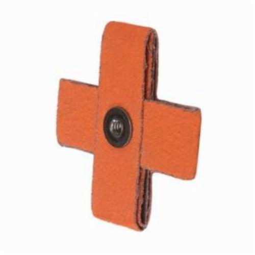 Merit® Blaze® 66261194504 Supersized Coated Cross Pad, 3 in L x 3 in W x 1 in THK, 1/4-20 Eyelet Thread, 60 Grit