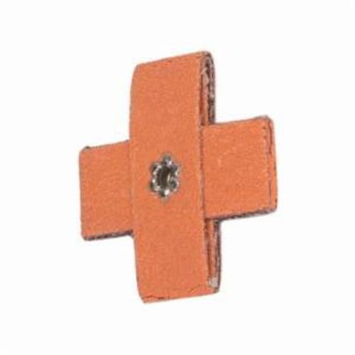 Norton® Merit® Blaze® 66261194513 Supersized Coated Cross Pad, 2 in L x 2 in W x 3/4 in THK, #8-32 Eyelet Thread, 80 Grit