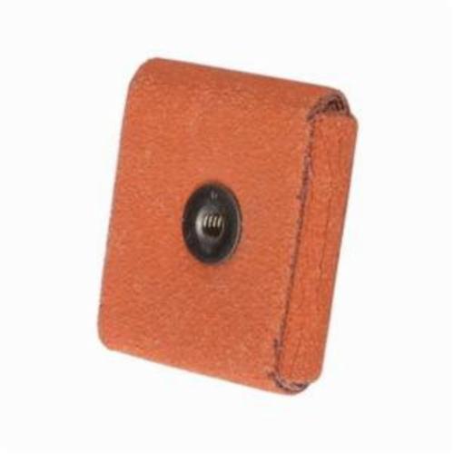 Merit® Blaze® 66261194520 Supersized Coated Square Pad, 2 in L x 2 in W x 1/2 in THK, 1/4-20 Eyelet Thread, 60 Grit