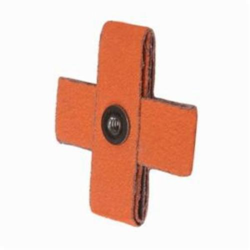 Merit® Blaze® 66261194551 Supersized Coated Cross Pad, 3 in L x 3 in W x 1 in THK, 1/4-20 Eyelet Thread, 120 Grit