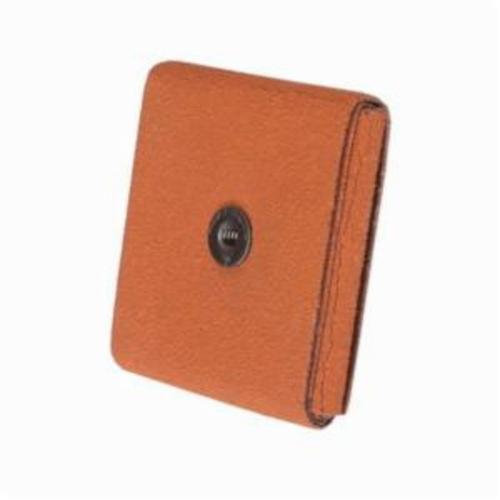 Merit® Blaze® 66261194558 Supersized Coated Square Pad, 3 in L x 3 in W x 1/2 in THK, 1/4-20 Eyelet Thread, 120 Grit