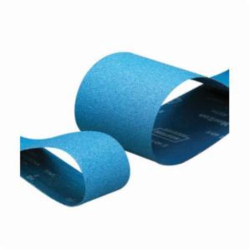 Merit® 66623351285 Narrow Coated Abrasive Belt, 4 in W x 60 in L, 36 Grit, Extra Coarse Grade, Zirconia Alumina Abrasive, Polyester Backing