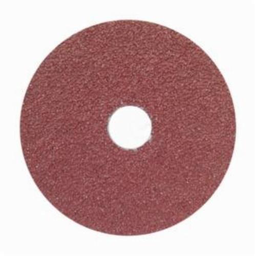 Norton® Merit® 66623355598 FX965 Coated Abrasive Disc, 5 in Dia, 7/8 in Center Hole, 36 Grit, Extra Coarse Grade, Ceramic Alumina Abrasive, Center Mount Attachment