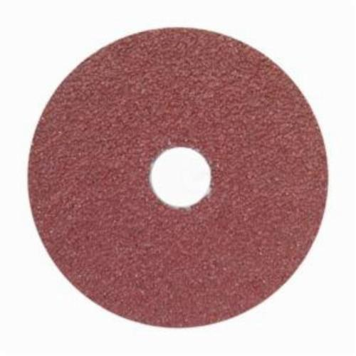 Merit® 66623355602 FX965 Coated Abrasive Disc, 4-1/2 in Dia, 7/8 in Center Hole, 36 Grit, Extra Coarse Grade, Ceramic Alumina Abrasive, Center Mount Attachment