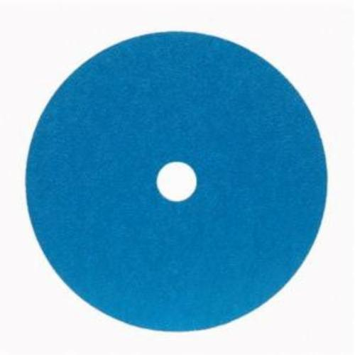 Merit® 66623357299 FX672 Coated Abrasive Disc, 7 in Dia, 7/8 in Center Hole, 80 Grit, Medium Grade, Zirconia Alumina Abrasive, Center Mount Attachment
