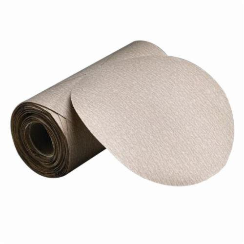 Merit® No-Fil® 66623362922 PB273 PSA Coated Abrasive Disc Roll, 5 in Dia, P600 Grit, Ultra Fine Grade, Aluminum Oxide Abrasive, Paper Backing