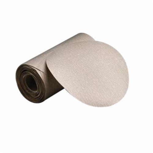 Norton® Merit®No-Fil® 66623362931 PB273 PSA Coated Abrasive Disc Roll, 6 in Dia Disc, P800 Grit, Ultra Fine Grade, Aluminum Oxide Abrasive, Paper Backing