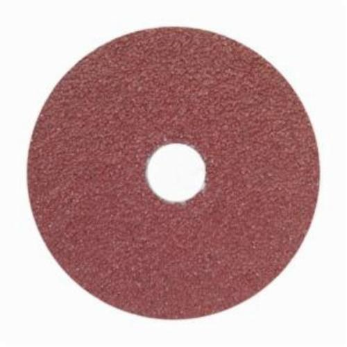 Norton® Merit® 66623366015 FX965 Coated Abrasive Disc, 5 in Dia, 7/8 in Center Hole, 80 Grit, Medium Grade, Ceramic Alumina Abrasive, Center Mount Attachment