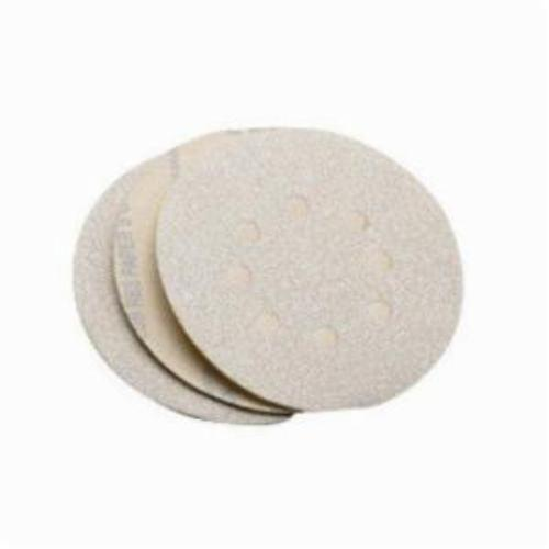 Norton® Merit® 66623369778 No-Load® PB273 Hook and Loop Disc, 5 in Dia, P120 Grit, Medium Grade, Aluminum Oxide Abrasive, Latex Paper Backing