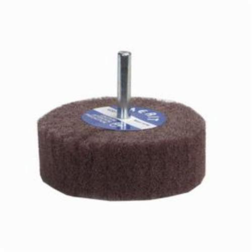 Merit® Bear-Tex® 69957399202 Spindle Mounted Non-Woven Flap Wheel, 2 in Dia, 1 in W Face, 1/4 in Dia Shank, 320 Grit, Very Fine Grade, Aluminum Oxide Abrasive