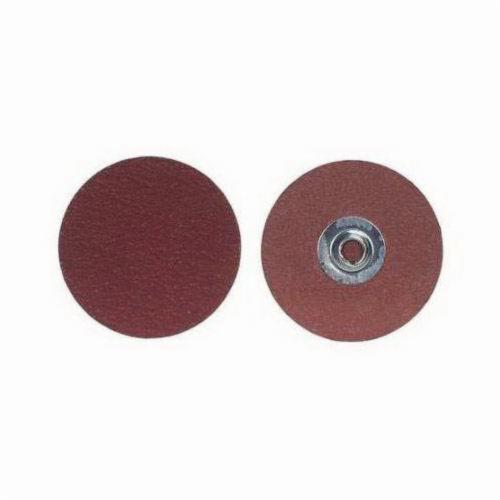 Merit® 69957399653 Coated Abrasive Quick-Change Disc, 3 in Dia, 60 Grit, Coarse Grade, Aluminum Oxide Abrasive, Type TS (Type II) Attachment