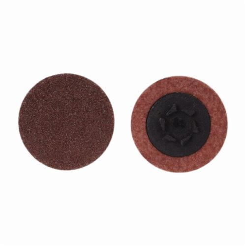 Merit® 69957399766 Coated Abrasive Quick-Change Disc, 1-1/2 in Dia, 80 Grit, Coarse Grade, Aluminum Oxide Abrasive, Type TP (Type I) Attachment