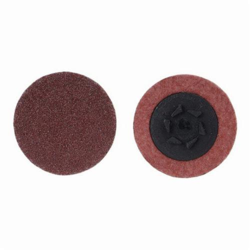 Merit® 69957399788 Coated Abrasive Quick-Change Disc, 3 in Dia, 50 Grit, Coarse Grade, Aluminum Oxide Abrasive, Type TP (Type I) Attachment
