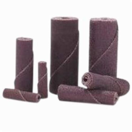 Merit® 77696089007 Coated Cartridge Roll, 1/2 in Dia x 1-1/2 in OAL, 1/8 in Pilot Hole, 60 Grit, Aluminum Oxide Abrasive