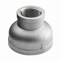 Merit Brass K412-3224 Banded Reducing Coupling, 2 x 1-1/2 in Nominal, FNPT End Style, 150 lb, 304/304L Stainless Steel, Import
