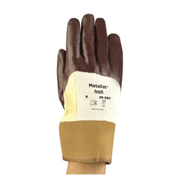 Metalist® 285816 28-507 Medium Duty Cut Resistant Gloves, XL/SZ 10, Foam Nitrile Coating, DuPont™ Kevlar®, Safety Cuff, Resists: Abrasion and Cut, ANSI Cut-Resistance Level: A2, ANSI Puncture-Resistance Level: 2, Ambidextrous Hand