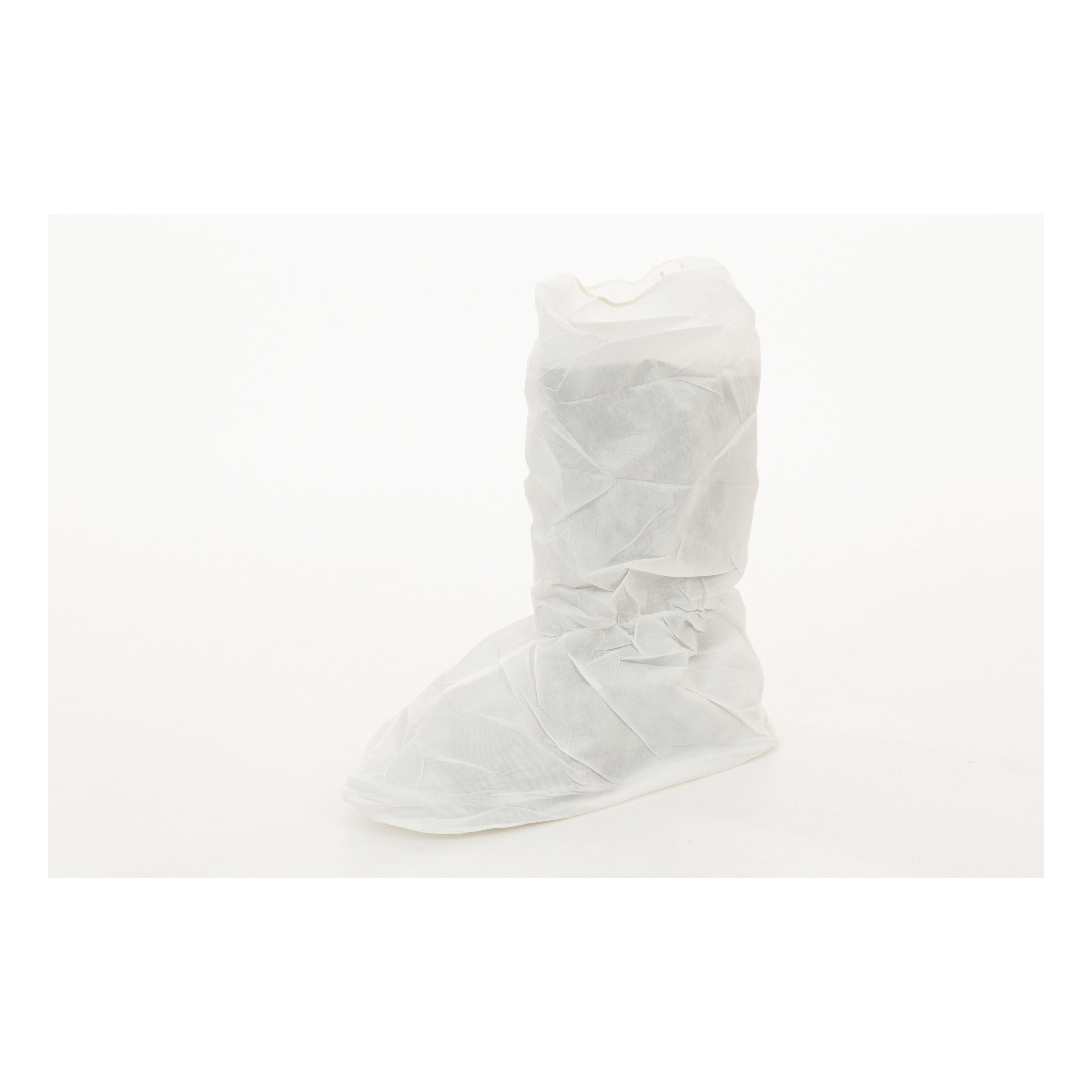 MicroGuard CE® CE8106-BP Clean Processed Shoe Cover With Vinyl Sole, Unisex, XL Fits Shoe, White, Elastic Closure, Microporous Fabric Outsole, Resists: Tear, Specifications Met: ASTM T903, INDA IST 100.2, AATCC 127, CPSC 1610, GB/T 12074-1991