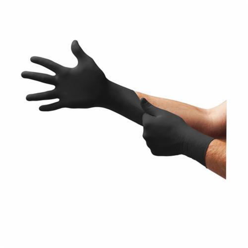 Microflex® BD-1003-NPF Black Dragon® ZERO Non-Sterile Single Use Disposable Gloves, L, Nitrile, Black, 9.6 in L, Powder Free, Textured Finger, 3.5 mil THK, Application Type: Exam/Medical Grade, Ambidextrous Hand