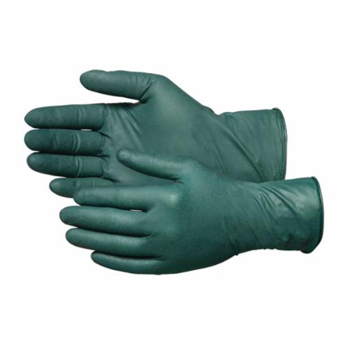 Microflex® DFK-608-XL Dura Flock® Non-Sterile Single Use Disposable Gloves, XL, Nitrile, Green, 10.6 in L, Powder Free, Fully Textured, 8.3 mil THK, Application Type: Industrial Grade, Ambidextrous Hand