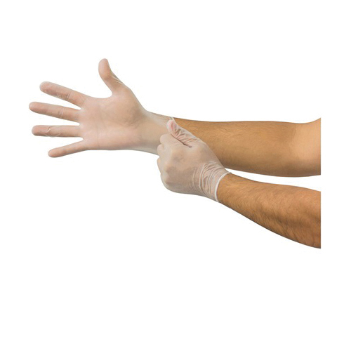 Ansell Microflex® DF-850-M Derma Free® DF-850 Non-Sterile Single Use Disposable Gloves, M, Vinyl, Clear, 9.3 in L, Non-Powdered, Smooth, 3.9 mil THK, Application Type: Exam/Medical Grade, Ambidextrous Hand