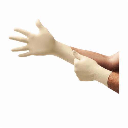 Microflex® Diamond Grip® MF-300 Disposable Gloves, Natural Rubber Latex, Natural, 9.6 in L, Powder Free, Textured Finger, 6.3 mil THK, Application Type: Exam Grade, Ambidextrous Hand