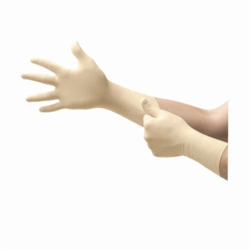 Microflex® SY-911-L Synetron® Non-Sterile Single Use Disposable Gloves, L, Natural Rubber Latex, Natural, 11.4 in L, Powder Free, Fully Textured, 9.1 mil THK, Application Type: Exam/Medical Grade, Ambidextrous Hand