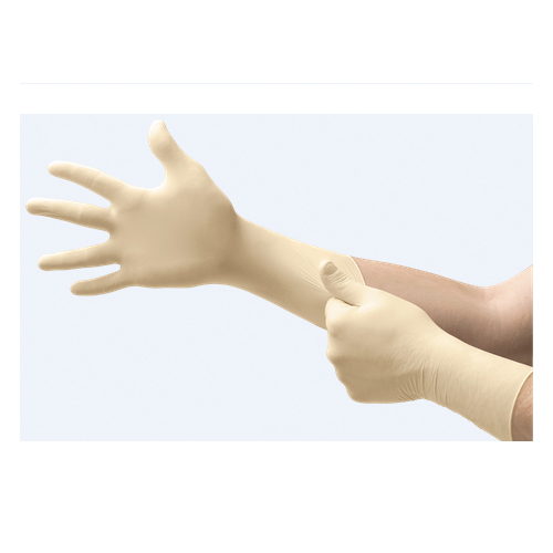 Microflex® UL-315-M Ultra One® UL-315 Non-Sterile Single Use Disposable Gloves, M, Natural Rubber Latex, Natural, 11.8 in L, Non-Powdered, Textured Finger, 9.8 mil THK, Application Type: Exam/Medical Grade, Ambidextrous Hand