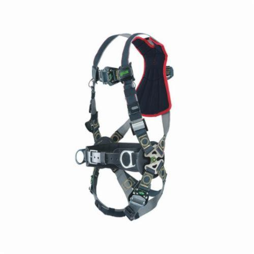Miller® by Honeywell RKNAR-QC/UBK Revolution™ Arc-Rated Harness, Universal, 400 lb Load, Kevlar®/Nomex® Strap, Quick-Connect Leg Strap Buckle, Black